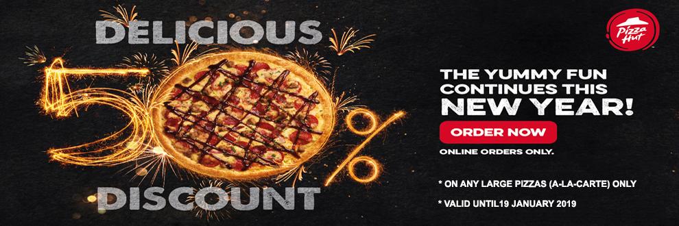 Large Pizza At Half Price