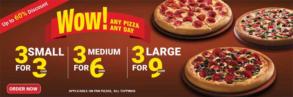 wow triples pizzas